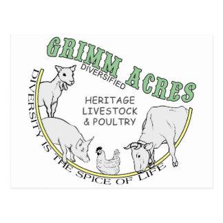 Acres de Grimm, logotipo diversificado Tarjetas Postales