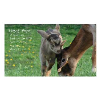 Acres de la cabra plantillas de tarjetas de visita