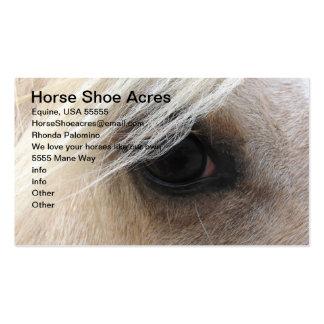 Acres del zapato del caballo del Palomino Tarjetas De Visita