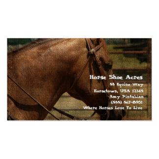 Acres del zapato del caballo occidentales tarjetas de visita