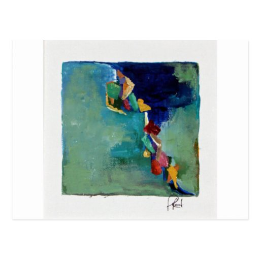 Acrílico abstracto de no. 76 del agua tarjeta postal