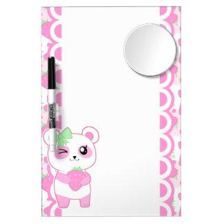 Acrílico lindo del oso de panda de Kawaii del rosa Pizarras Blancas De Calidad