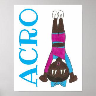 ACRO Acrobatics Dance School Studio Teacher Art Poster