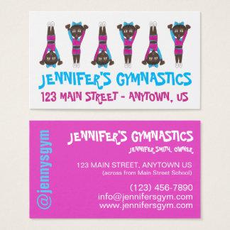Acro Gymnastics Gym Dance School Studio Teacher Business Card