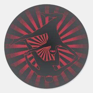 Acro Yoga Ninjas Classic Round Sticker