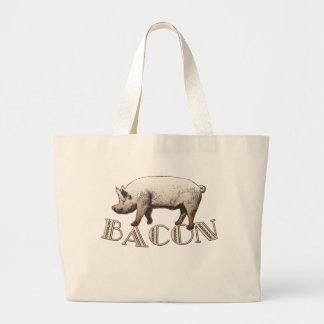 Acrobat BACON Pig Large Tote Bag
