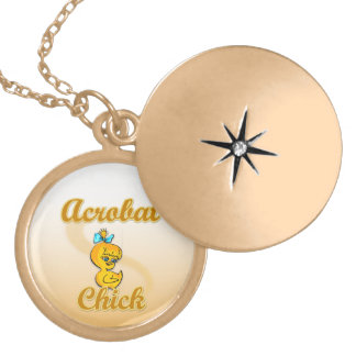 Acrobat Chick Gold Plated Necklace