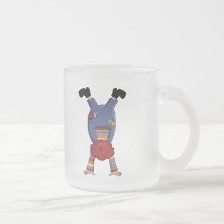 Acrobat Circus Clown Frosted Glass Coffee Mug