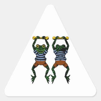Acrobat Frog Triangle Sticker
