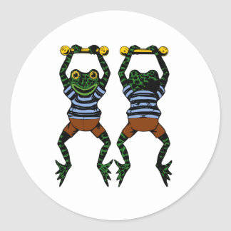 Acrobat Frogs Stickers
