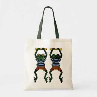 Acrobat Frogs Tote Bag