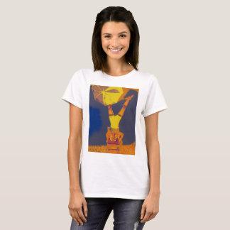 Acrobat Headstand Art Women's Basic T-Shirt, White T-Shirt
