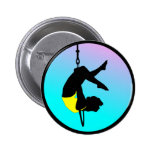 Acrobat of New Circus 2 Inch Round Button