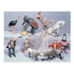 Acróbatas de circo de Humpty Dumpty y casa de Tarjeta Postal