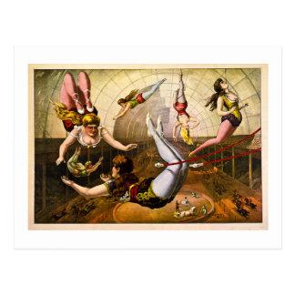 Acróbatas de sexo femenino 1890 tarjeta postal