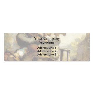 Acróbatas del desfile de Honore Daumier Tarjeta De Visita