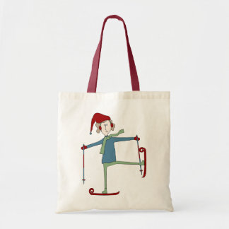 Acrobatic Skier Holiday Tote Bag