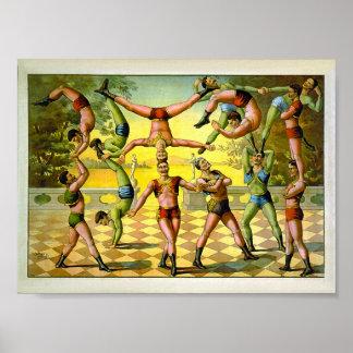 Acrobatics 1891 Vintage Circus Posters