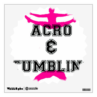 acrobatics and tumbling room stickers