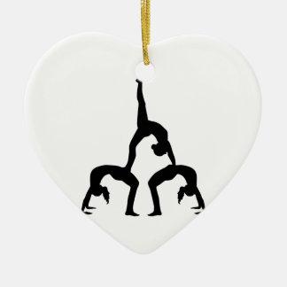 Acrobatics Ceramic Ornament