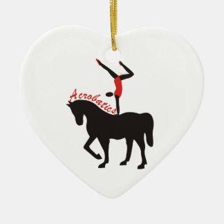 Acrobatics on horseback custom ornament