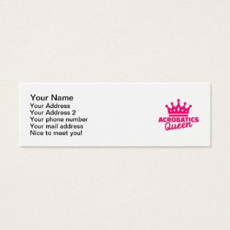 Acrobatics Queen Mini Business Card