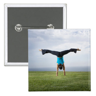 Acrobats and Contortionists 2 2 Inch Square Button