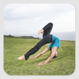 Acrobats and Contortionists Square Sticker