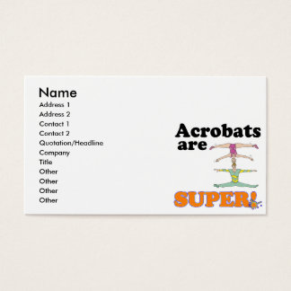 acrobats are super business card