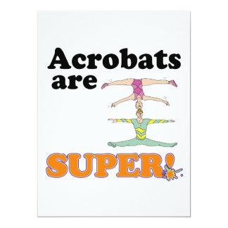 acrobats are super 6.5x8.75 paper invitation card