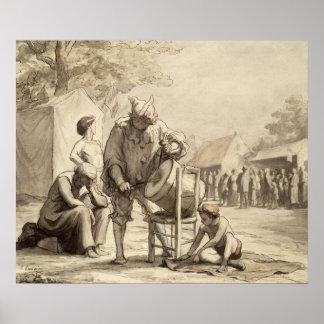 Acrobats at the Fair c.1865-69 Poster