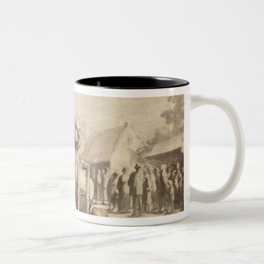Acrobats at the Fair c.1865-69 Two-Tone Coffee Mug