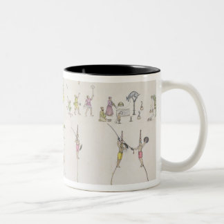 Acrobats, Jugglers, Impersonators, Entertainers fr Two-Tone Coffee Mug