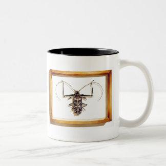"""""""Acrocinus longimanus"""" Insect Watercolor Two-Tone Coffee Mug"""