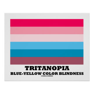 Acromatopsia Azul-Amarilla del Tritanopia Póster