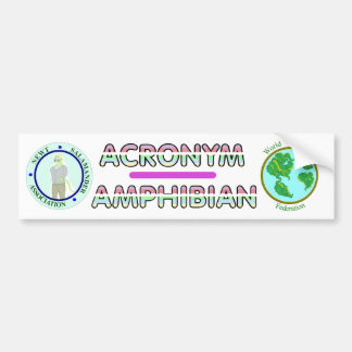 Acronym Amphibians w/ Logos Bumper Sticker