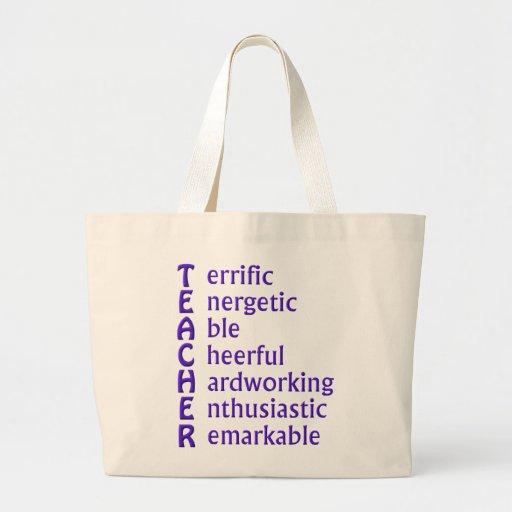 Acronym for Teachers Jumbo Tote Bag