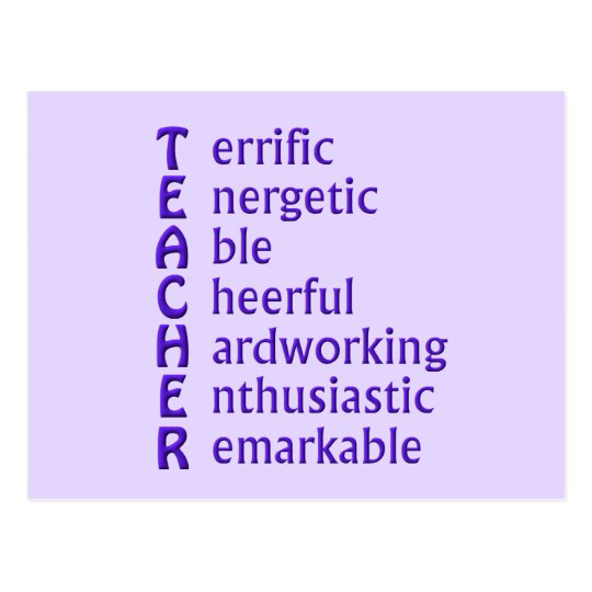 Acronym for Teachers Postcard