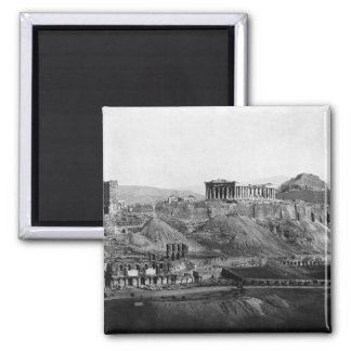 Acropolis ~ Acropolis of Athens Greece 1865 2 Inch Square Magnet