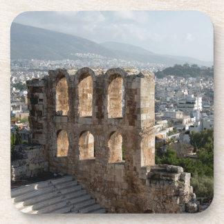 Acropolis Ancient ruins overlooking Athens Beverage Coaster