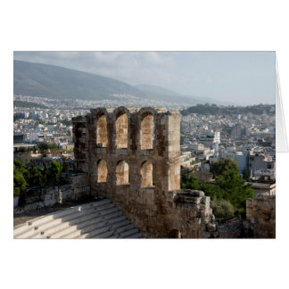 Acropolis Ancient ruins overlooking Athens Card