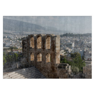 Acropolis Ancient ruins overlooking Athens Cutting Boards