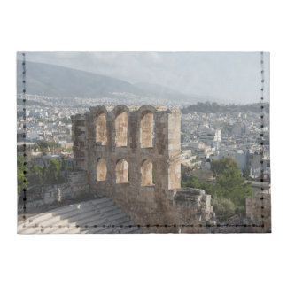 Acropolis Ancient ruins overlooking Athens Tyvek® Card Wallet