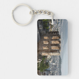 Acropolis Ancient ruins overlooking Athens Double-Sided Rectangular Acrylic Keychain