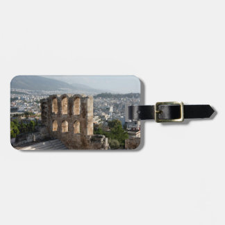 Acropolis Ancient ruins overlooking Athens Tag For Luggage