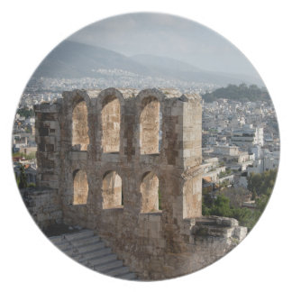 Acropolis Ancient ruins overlooking Athens Dinner Plates