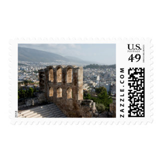Acropolis Ancient ruins overlooking Athens Postage Stamp