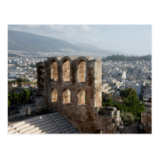 Acropolis Ancient ruins overlooking Athens Postcard