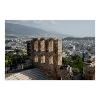 Acropolis Ancient ruins overlooking Athens Poster