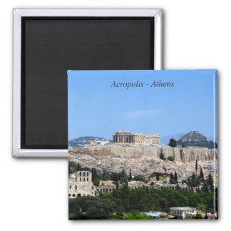 Acrópolis - Atenas Imán Cuadrado